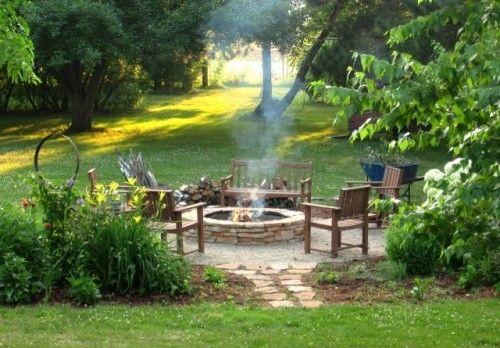 Fire pit! Other outdoor/backyard ideas: hammock, fruit/veggie garden, mini orchard, bee-keeping