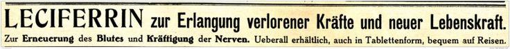 Original-Werbung/ Anzeige 1917 - LECIFERRIN TABLETTEN / GALENUS FRANKFURT - ca…