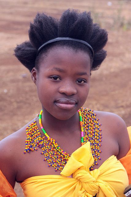 Young lady in South Africa - Zulu reed dance ceremony by Retlaw Snellac Photography, via Flickr. via Flickriver.com