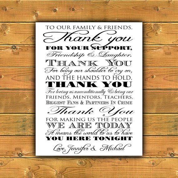 Thank You Wedding Sign for Wedding Entrance or by ParraclanDesigns, $10.00