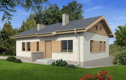 Одноэтажный дом на склоне Rg4864 Вид1