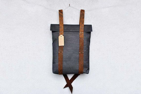 Backpack Canvas, hipster mens rucksack, personalied backpack canvas leather, custom rucksack 201