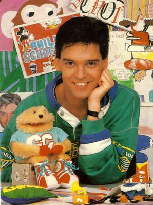 Phillip Schofield and Gordon the Gopher, every day on CBBC. We only had 2 hours of kids TV, not 15 channels playing 24/7