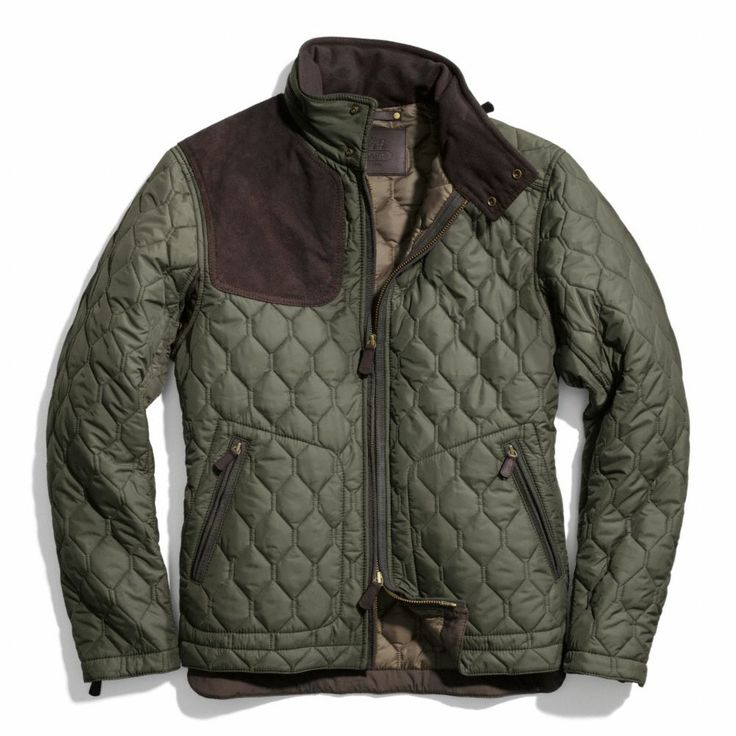 The Bowery Quilted Suede Gun Patch Racer Jacket From Coach