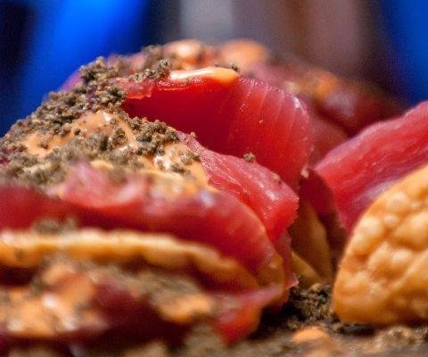 ... tilapia with pimiento sauce recipe simplyrecipes com simplyrecipes com