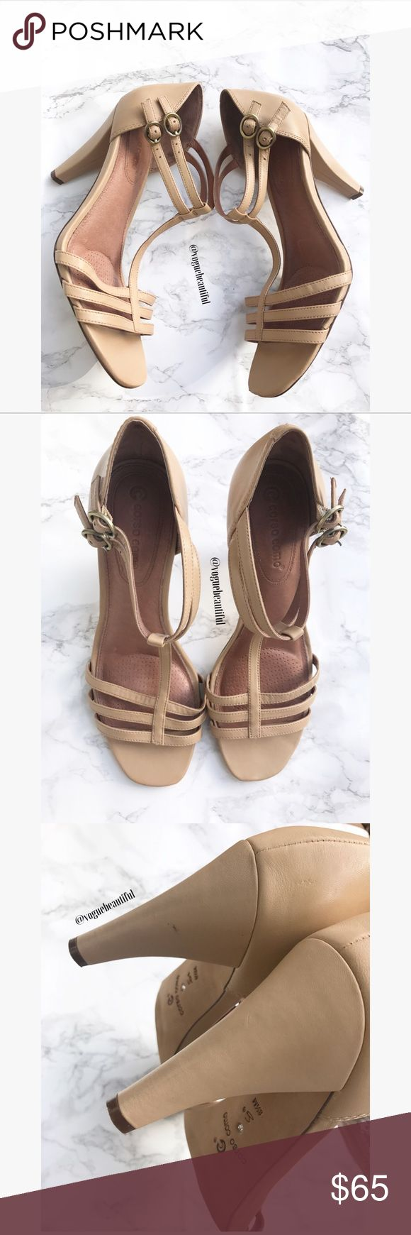 Corso Como Leather Tan Strappy Heels Super cute Corso Como leather tan/cream color heels - Size 8.5 M - excellent preloved condition with no major wear - heel height is 3.5 inches - purchased at Nordstrom - box not included-  !!NO TRADES!! Corso Como Shoes Heels