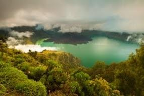The beautifull view of SEGARA ANAK Lake