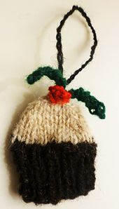 This is a cute Christmas Pudding ornament for the perfect Christmas tree.