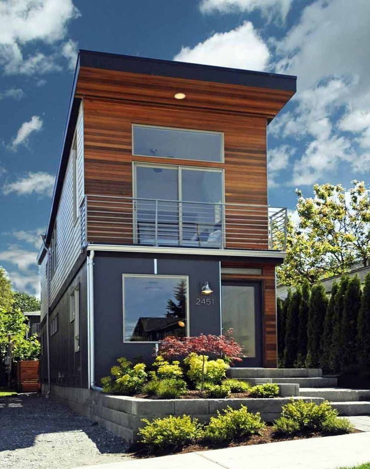 Pin by EL on Houses | Narrow house plans, Small modern ...