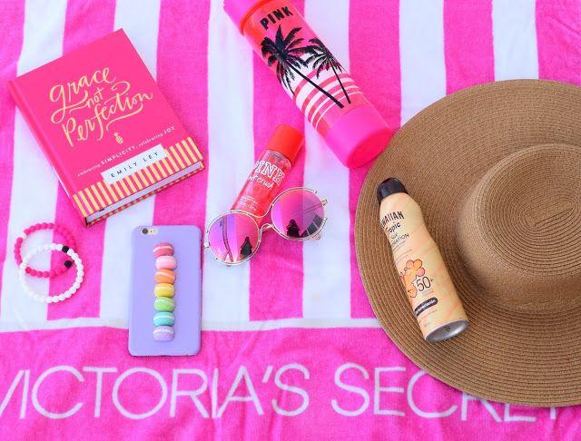 pool essentials, pink, victoria secret, iphone case, macarons