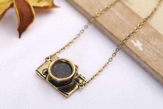 Vintage Camera Necklace Cute Necklace Unique by Vonijewelry, $5.90
