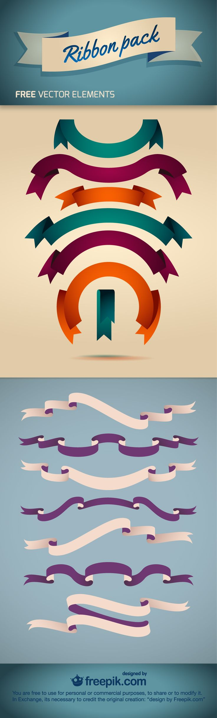 Ribbon Pack - Free Vector Element