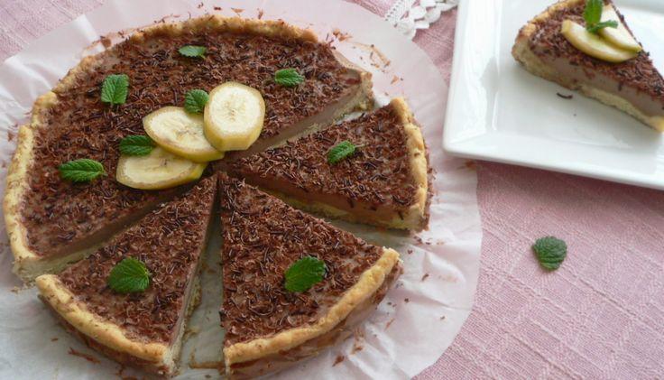sametový čokoládový panna cotta pie
