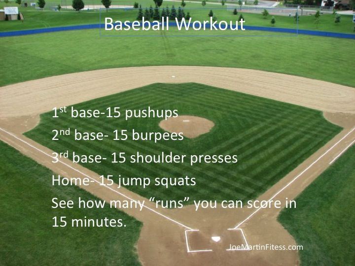 Opening Day Fitness: 6 Baseball-Inspired Workouts - Babble