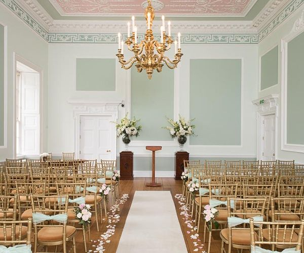 Botleys Mansion Wedding Venue In Surrey Set Up For A Ceremony Chwv