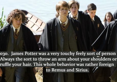 Love the marauders friendship. Remus, James and Sirius. Hermione, Harry and Ron.