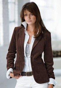 Womens Corduroy Jacket - Coat Nj