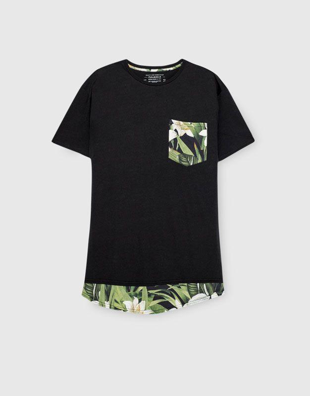 Camiseta flores bolsillo - Camisetas - Ropa - Hombre - PULL&BEAR España