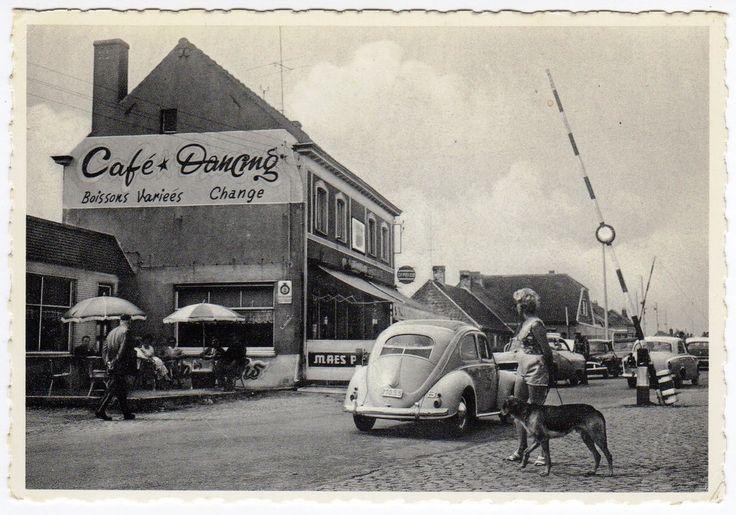 VW ovale carte postale ancienne, frontière belge