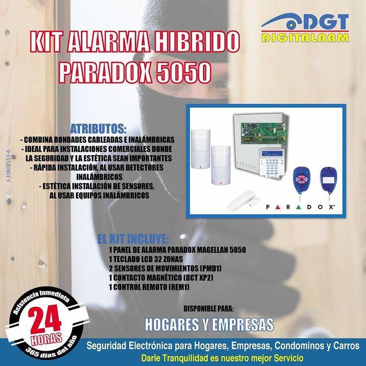 """Para la #Seguridad del #HOGAR y la #EMPRESA te ofrecemos los Mejores Productos como el: Kit Alarma HÍBRIDO PARADOX 5050. te interesa? Feliz Sábado!  #DGTDigitAlarm """"Darle #Tranquilidad es nuestro mejor Servicio"""" #Valencia #Venezuela #Seguridad #SeguridadElectrónica #Hogar #Carros #Condominio #Empresas #Alarmas #PáginaWeb www.dgt.co.ve  0-500-PANICO-7 (0-500-726426-7) 18 años de Experiencia! by dgtdigitalarm"""
