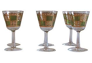 Midcentury Wine Glasses, S/6--for sparkling cider