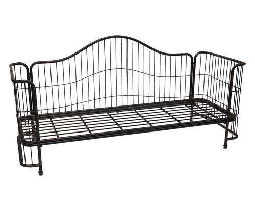 Divano letto singolo in ferro vintage 206x76x100 Colore nero  ad Euro 669.00 in #Novita import #Furniture sofas couchesbenches