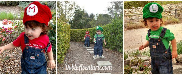 Gemelos y disfraces de Halloween. Mario Bros Twins y mas