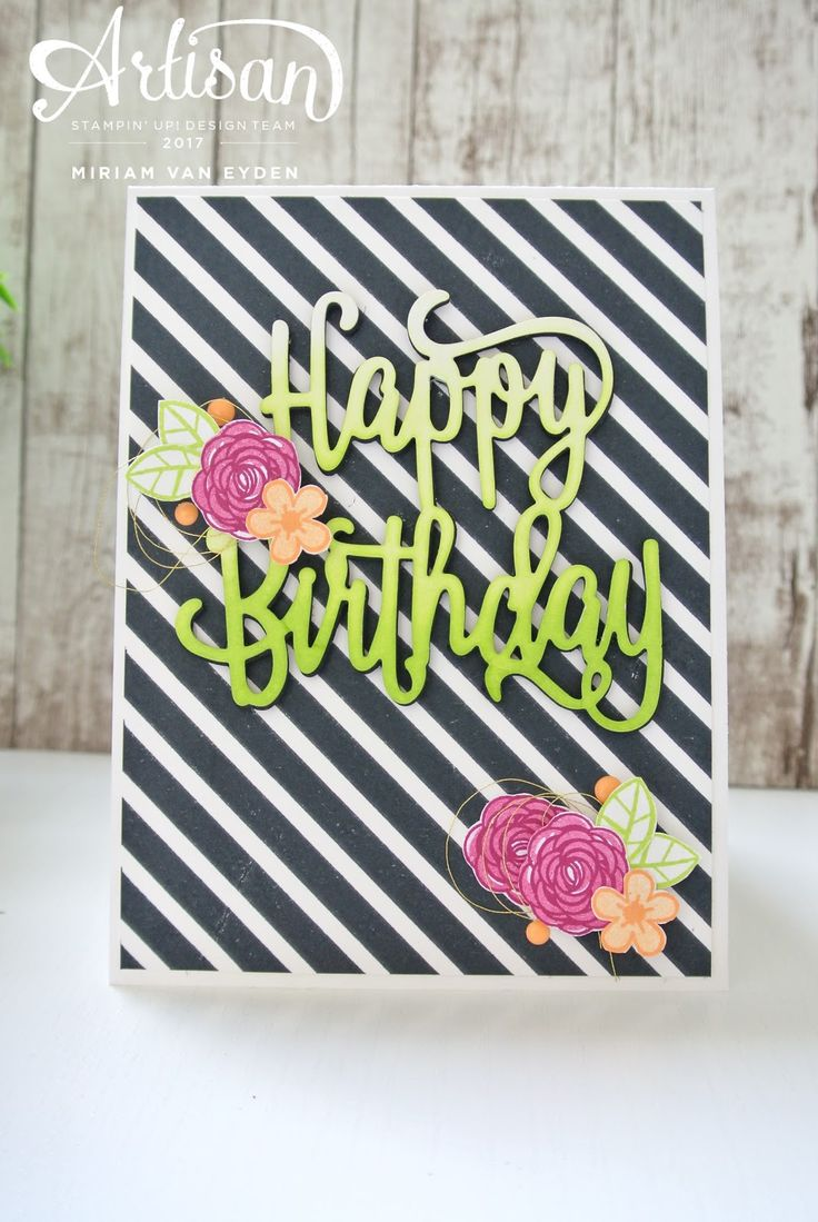 Happy birthday gorgeous stampset by Stampin' Up!