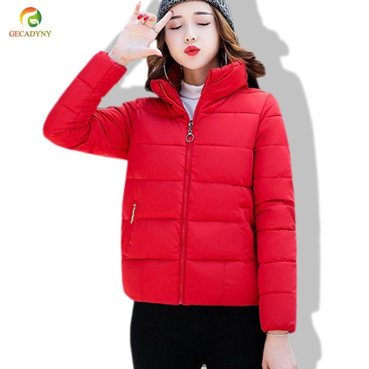 2017 Women Parkas Cotton-Padded Jacket Thick Winter Coat Woman Slim Solid Female Outerwear Women Parka Sales Promotion M-XXL #Affiliate