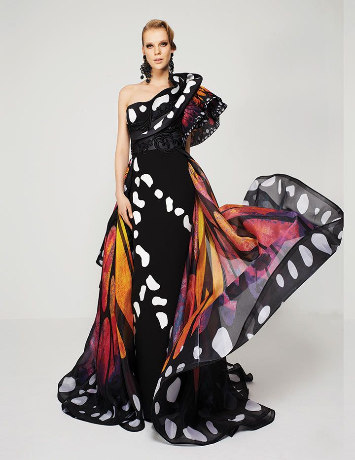 05778932177 Spread your wings in this butterfly inspired gown! #fashion #beauty  #butterfly #dress
