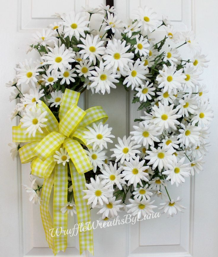 CUSTOM ORDER for Alesia Bonner, Daisy Grapevine Wreath, Summer Daisy Wreath, Daisy Wreath, Front Door Daisy Wreath, Front Door Wreath by WruffleWreathsbyLana on Etsy