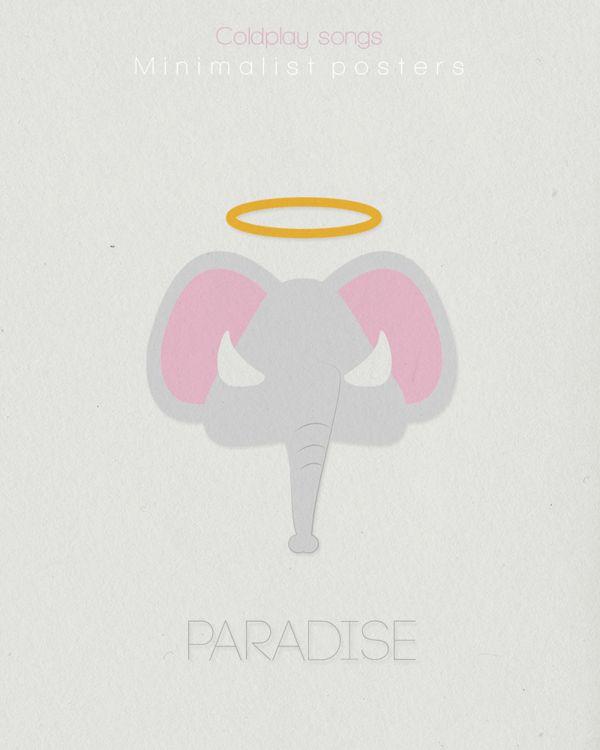 Coldplay minimalist poster