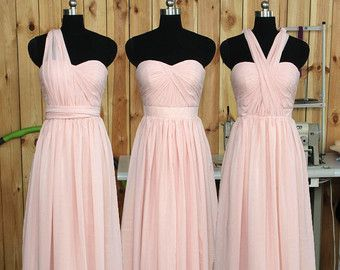 2016 Long Peach Bridesmaid dress Sweetheart Prom dress by RenzRags