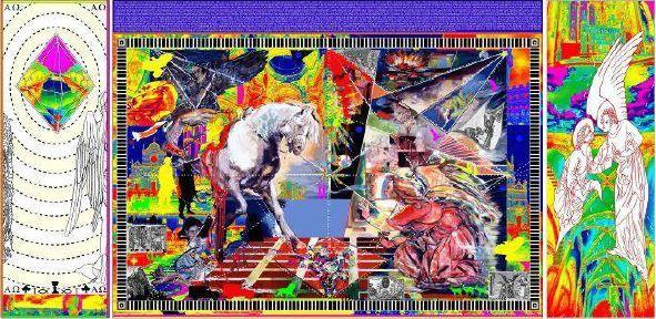 Jusqu'au 15 juin, la cathédrale de Bruxelles accueille en première mondiale la Tapestry of Light de l'artiste australienne Irene Barberis.Dans un cycle iconographique complet, le livre de l'Apocalypse est évoqué en 14 pièces tissées en Belgique. Cette tenture de 36 mètres de long sur 3 mètres de ha