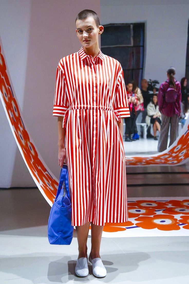 Bold bold bold from Marimekko but I couldn't go past these stripes. #ss18 #pfw