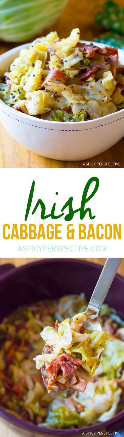Irish Cabbage and Bacon Recipe for Saint Patrick's Day!