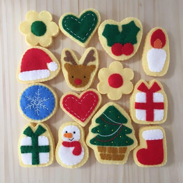 フェルトのクリスマスクッキー*