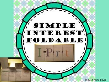 It+includes+Simple+Interest+foldable.+  Page+3+and+4+is+the+pre-filled+copy+with+definitions+and+examples.+ Page+5+and+6+has+word+problems+and+the+formula+pre-filled.+Students+must+write+in+the+definitions+and+solve+the+problems. Page+7+and+8+is+a+blank+copy+that+gives+you+an+option+of+adding+your+own+examples.