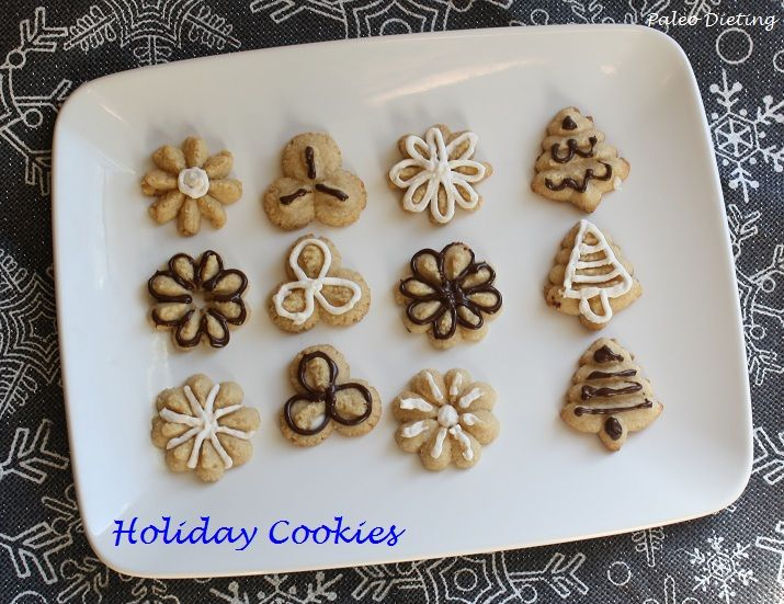 Holiday Cookies  (for cookie press or cookie cutter) #PaleoDieting