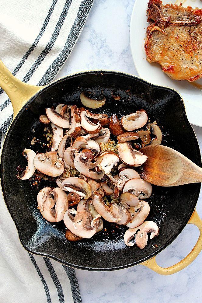 Garlic Butter Mushroom Pork Chops Recipe - tender and ...