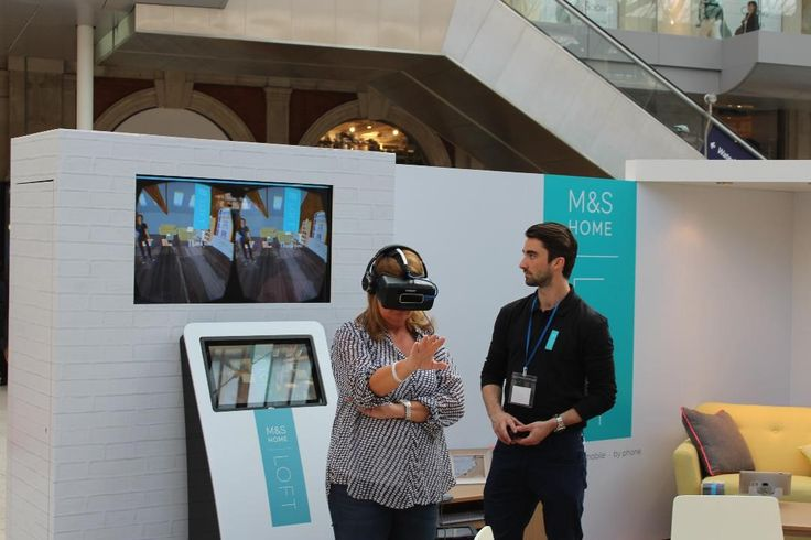 M&S launched a campaign at Waterloo Station promoting their LOFT Homeware range. Using combined technology – Oculus Rift and Leap Motion – a virtual reality experience was created allowing customers to design their own space with products from the range.