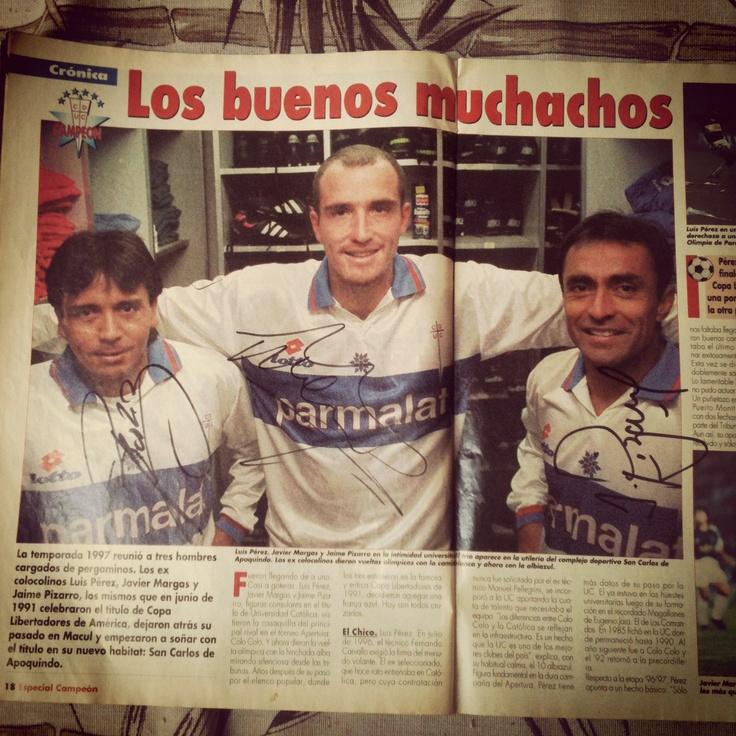 Autografo Luis Perez, Javier Margas y Jaime Pizarro. #LosCruzados