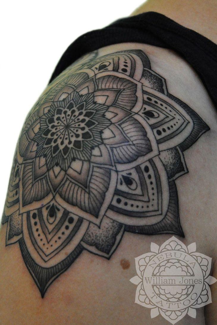 mandala tattoo shoulder men images galleries with a bite. Black Bedroom Furniture Sets. Home Design Ideas
