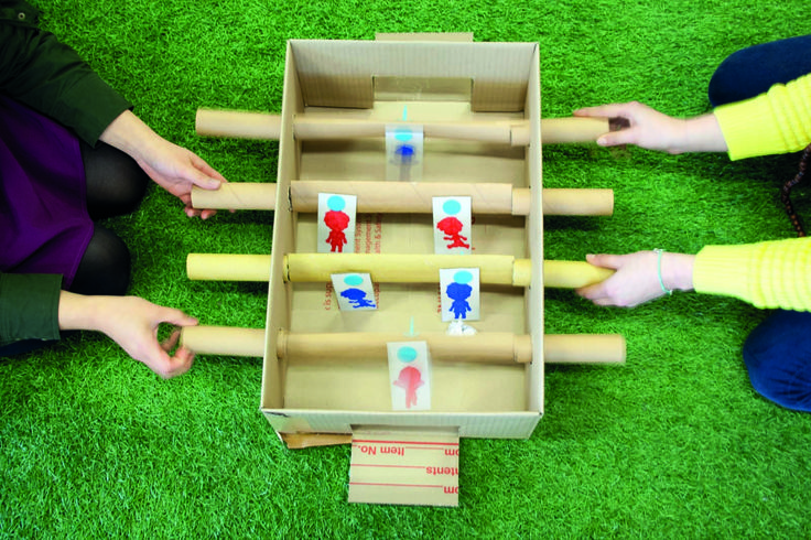 Learn how to make a Cardboard FoosballTable or for more inspiration, click the link