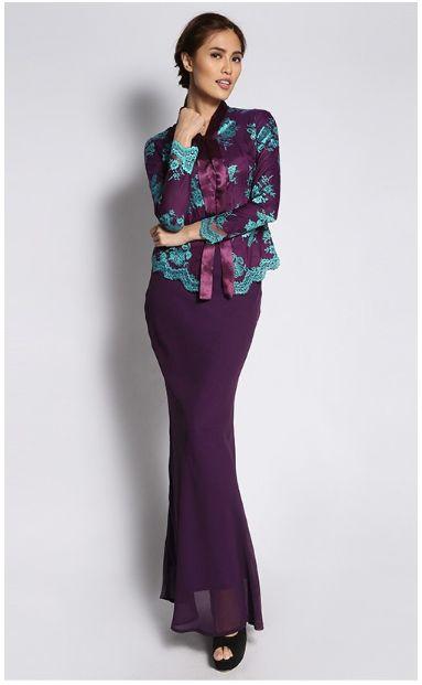 2015 new lace baju kurung design for wholesale
