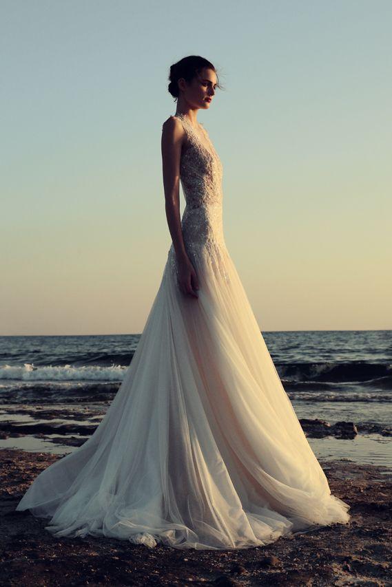 BR 1749 Sequin Embroidered Lace Applique Tulle Ball Gown #weddingdress #bridal2017 #costarellos #bridetobe #brides #lace #novia #abitodasposa #wedding