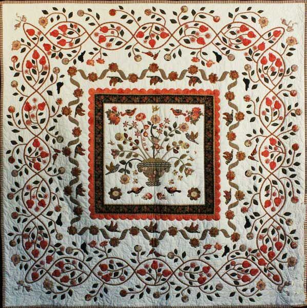 """It Started With Ann Daggs"" by Laurie Cummings.  2013 Sydney (Australia) quilt show. 3rd prize applique."