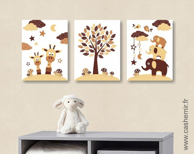 affiche pour b b enfant illustration b b poster gar on d coration chambre girafe l phant. Black Bedroom Furniture Sets. Home Design Ideas