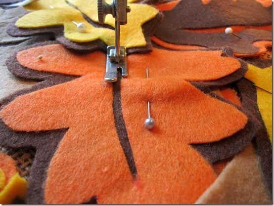 Felt Falling Leaves pillow: Cute Ideas