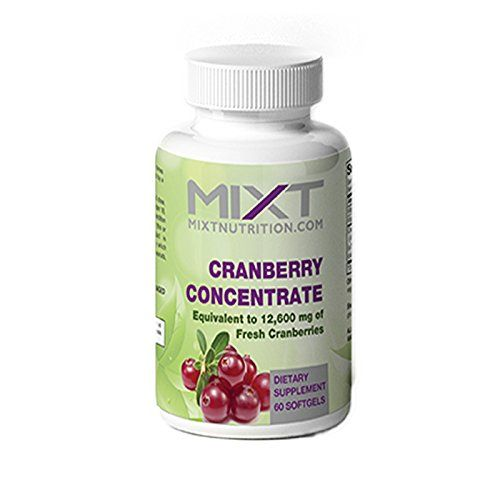 Cranberry Concentrate by Mixt Essentials - 12,600 Grams Equivalent of Cranberries - Packed with Antioxidants and Perfect for Bladder Health, UTI Prevention, and Boosting Heart Health- 60 Soft Gel